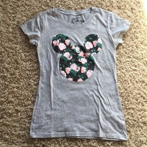 Floral Mickey Mouse shirt - Disney tee
